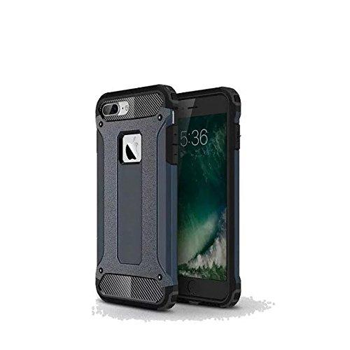 iPhone 7 Plus Coque,Lantier Hybrid PC double couche+TPU Anti-Drop antichoc Cool design Etui rigide robuste robuste Lumière mince Armure pour Apple iPhone 7 Plus (5,5 pouces) Rose d'or Dark Blue