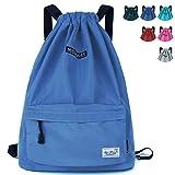 WANDF Rucksack mit Kordelzug und Kordelzug, wasserabweisend, Nylon, für Fitnessstudio, Shopping, Sport, Yoga, Unisex-Erwachsene (nur Gepäck), Sky Blue 6032