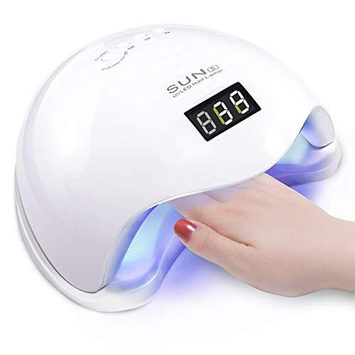 Vinteky®Black Friday 48W Secador de Uñas Lámpara LED Manicura Lámpara Solar de Uñas LED de Infrarrojos...