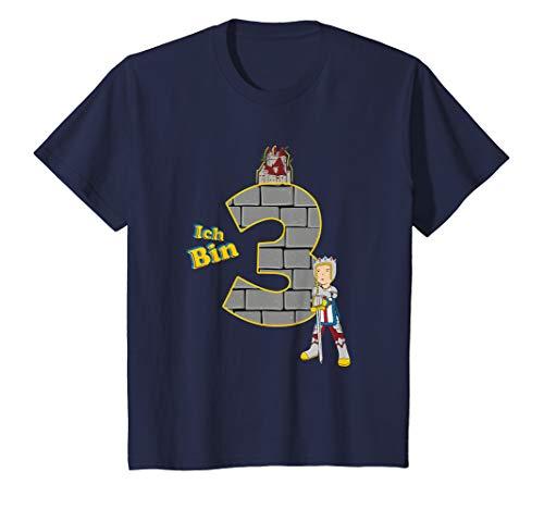 Ritter Kostüm Des Drachen Kleinkind - Kinder Geburtstagsshirt 3 Jahre Junge Ritter Motiv Ich bin 3