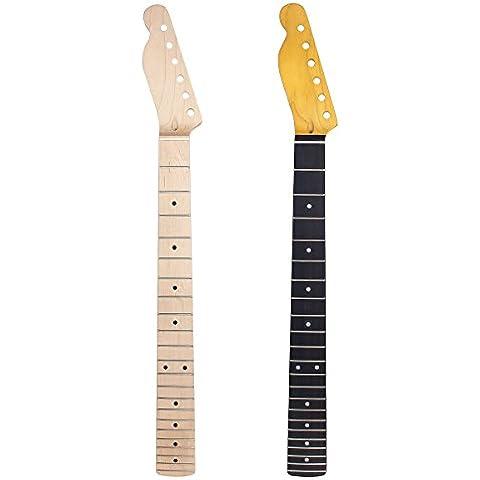 Kmise Lefty acero TL collo della chitarra 22Fret completa Fretjob per Fender Tele di ricambio, confezione da 2