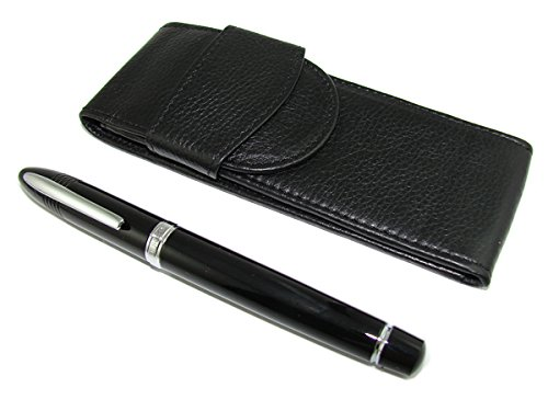 Shark DukeBlack a forma di penna stilografica, penna Set in pelle - Casi Fountain Pen