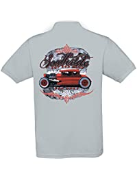 Ethno Designs - Southside - Hot Rod Polo Shirt Old School Rockabilly Retro Style pour Hommes