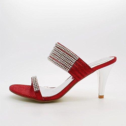 London Footwear ,  Damen hinten offen Rot