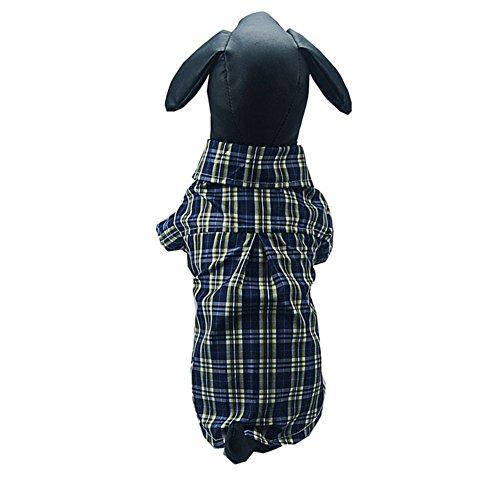 Yiwa Sommer Welpen Hund Katze Kleidung Baumwolle T-Shirt Revers Jacke Weste Bekleidung Kostüm Pullover, dunkelblau, S