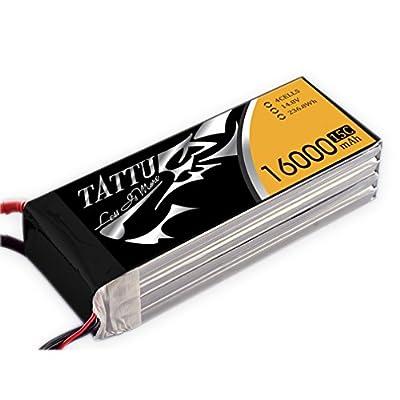 Tattu 16000mAh 4S1P 15°C 14.8V LiPo Battery Pack for RC Quadrocopter Drone FPV Race Like Onyx Star Fox C8HD Gryphon x8and Professional UAV by Tattu