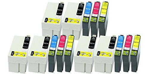 Preisvergleich Produktbild 15 Druckerpatronen XL alle Farben ersetzen Epson T2711 T2712 T2713 T2714 geeignet z.B. für Epson WorkForce WF-3620, WF-3620DWF, WF-3640, WF-3640DTWF, WF-7110, WF-7110 DTW, WF-7610, WF-7610DWF, WF-7620, WF-7620DTWF