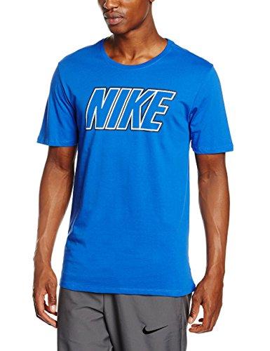Nike Embrd Block, Maglietta Uomo, Multicolore (Game Royal/Game Royal/Bianco), S