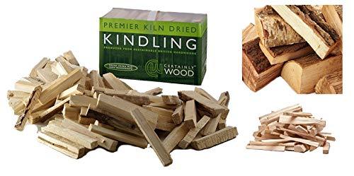 Ofengetrocknetes Anzündholz-Natürliche Anzünder für Holzöfen, Brennholz für Feuer zuhause, zum Grillen, für Feuerstellen, Herde und Kamine.
