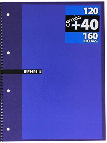 Enri 739611 - Cuaderno microperforado, A4, 160 hojas