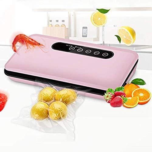 JAYE Vakuum-Siegermaschine, Wet und Trockengehäuse One-Touch Automatik für die Verlängerung der Freshness von Lebensmitteln, Küchenschutzmaschine (Pink)
