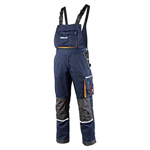 Krähe Arbeits-Latzhose Modern Plus Pro Herren – Hose mit Mehrwert, 12 Taschen, vorgeformte Kniepolstertaschen in blau Größe 44