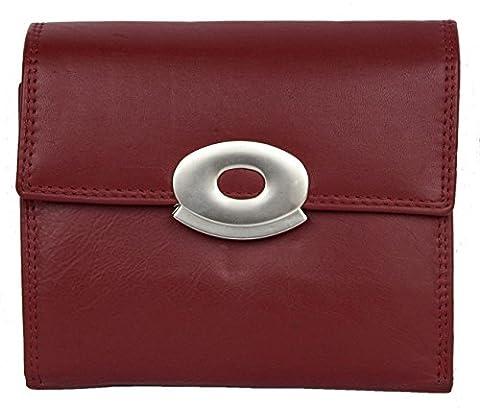 Damen Dunklerotes Schön Qualität Leder Portemonnaie Kabana (Schönes Portemonnaie)