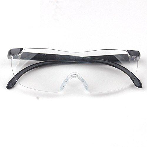 Modische 1,6 Mal 250 Grad Presbyopie Brillen Vergrößerungslinse Framless Lesebrille Objektiv