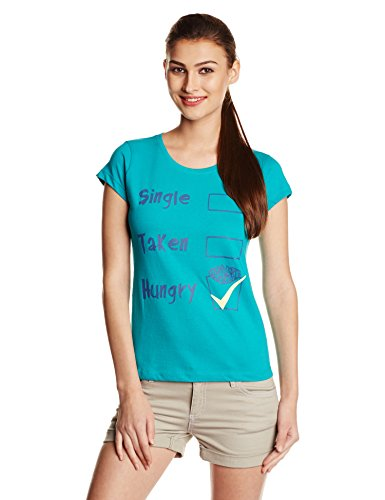 People Women's Printed T-Shirt (P20401104768226_Lake Blue_M)  available at amazon for Rs.149