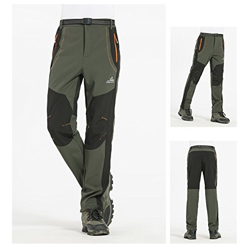 Pants Warm Keeping Trousers Men & Women Spring Winter Outdoor Sports Waterproof Windproof Trousers for Camping Hiking Skiunterwäsche Skiing Female Army Green 4 x L, Vert D'armée?homme), XXXL (Us-armee-pyjama)