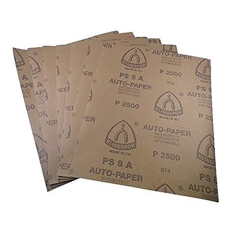 Wasserschleifpapier 10 Blatt P600 / Maße 230 mm x 280