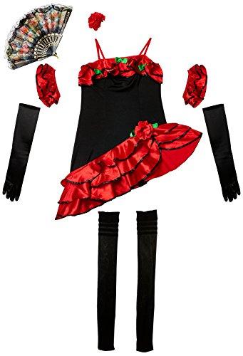 üm Sexy Tänzerin Flamenco-Einheitsgröße (Tänzerin Flamenco Kostüme)