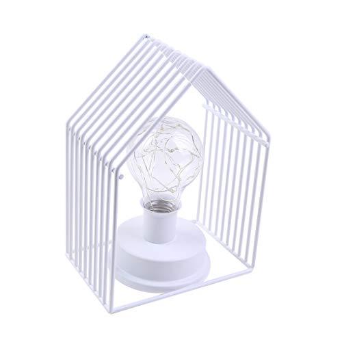 Myspace 2019 Dekoration für Christmas Dekorative Partei LED Kupferdraht Schmiedeeisen Haus Form Birne Nachtlicht Zimmer Weihnachtsfeier -