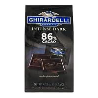 Ghirardelli Chocolate Intense Dark 86% Cacao Packet, 117.1g