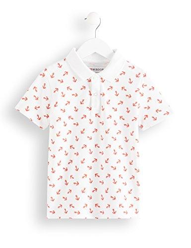 RED WAGON Jungen Poloshirt mit Anker-Muster, Weiß (White 11-0601 Tcx), 146 (Herstellergröße: 11) Jungen Anker