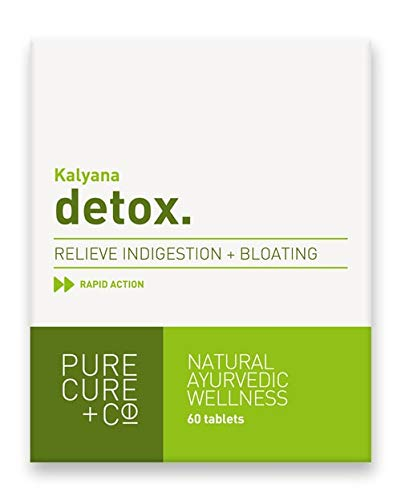 Pure Cure + Co. Colon Cleanse and Detox, Ayurvedic Kalyana Fast-Acting Formula Tablets 60 X 250 mg