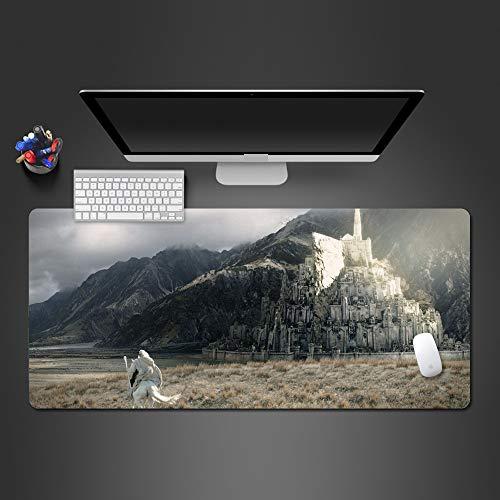 Riesen Weiße Trikot (Mauspad Gummi waschbar Computerspiel Computer Tastatur Mauspad 2 700x300x2)