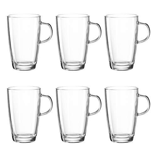 Montana: :Enjoy Latte Macchiato Tasse, 6er Set, Kaffeetasse, Teetasse, Kaffeeglas, Glastasse, Glas, 200 ml, 060990 Montana Glas