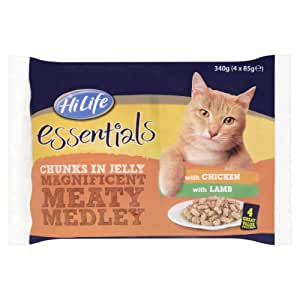 HiLife Essentials Cat Food Meaty Medley Selection in Jelly '52 x 85g Pouches'