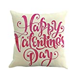 Dtuta Valentinstag Print Kissenbezug Polyester Sofa Auto Kissenbezug Home Decor