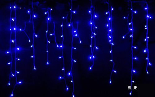 3,5m/3,5m 96leds Tenda ghiacciolo luci per Natale Festa di nozze Dec (Blu Icicle)