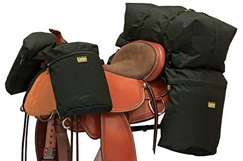 Trailmax Satteltaschen-Set, groß, mit Einem Set Satteltaschen, Einem Set Horntaschen & Einer Cantle Bag, erhältlich in Schwarz, Braun, Orange, Grün & unserer eigenen Nordgabel Camo, schwarz -