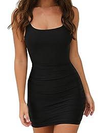 Beikoard Vestito Donna Elegante Abbigliamento Vestito Donna Womens Sexy  Camisole Bodycon Senza Maniche Casual Mini Dress b2be62dc34d