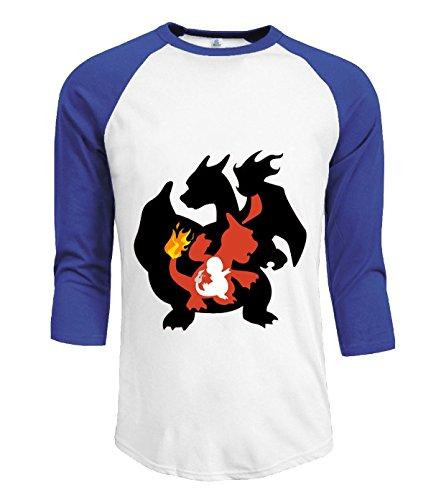 ta-dey-pokemon-fire-dragon-evolution-t-shirts-for-mens-xxl-blue-3-4-sleeves