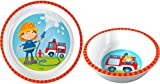 HABA Feuerwehr 2er Set 303692 303693 Teller + Schüssel