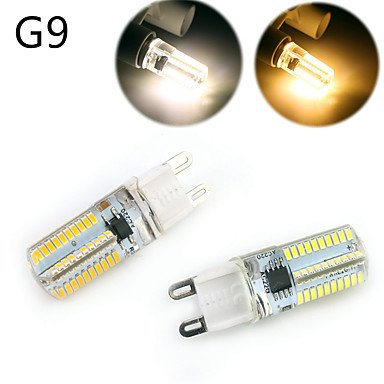 WELSUN 5W Ampoules LED E14 / G9 / G4 / BA15D Lampe LED Corn T 80 SMD 3014 300-350 lm Blanc Chaud / Blanc Froid Gradable / Décorative AC 200-240 V ( Connector : G9 , Light Source Color : Cool White-220V )