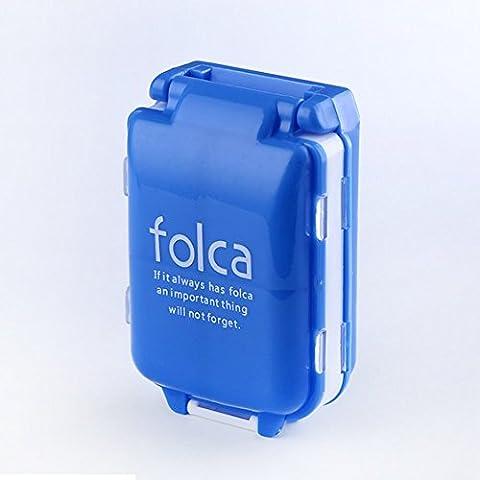"""Doremy 7 Tage Pillendose Vitamin Tablettendose Kunststoff-Reisen Pille Veranstalter Dispenser Aufbewahrungsbox 8 Fächer und Dichtung 3.9 x 2.7 x1.4 """" (blue)"""