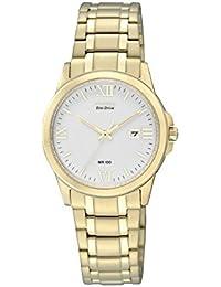 Citizen Damen-Armbanduhr Analog Quarz Edelstahl beschichtet EW1912-51A