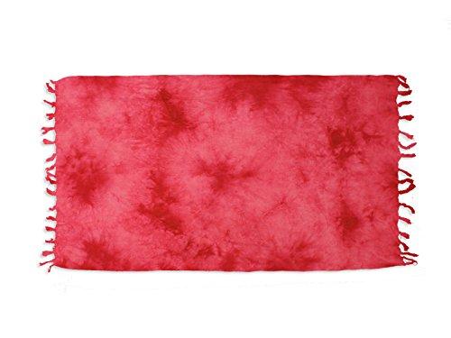 Futa in cotone 100 x 200 cm tie and dye rossa di soleil d'ocre