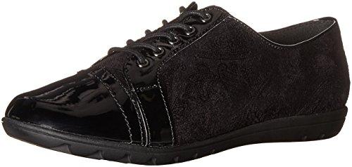Hush Puppies , Chaussures de Ville à Lacets pour Femme Gris Gris - Noir - Black Paisley Faux Suede/Black Patent,