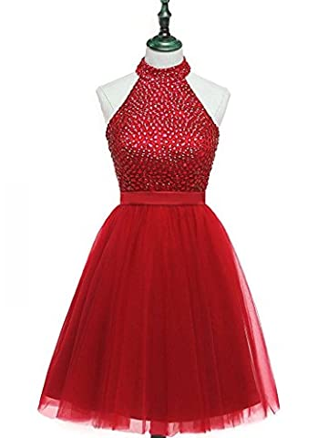 Ysmo - Robe - Cocktail - Femme - rouge - 46