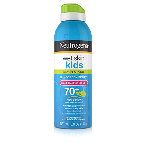 Neutrogena Wet Skin Kids Sunblock Spray, SPF 70, 5 oz (Sonnenschutzmittel) (Sunscreen Spray Neutrogena)