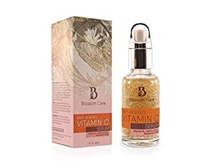Vitamin C Serum for Face with Hyaluronic Acid – Anti Ageing and Anti Wrinkle Face Serum with Vitamin B and E – Skin Moisturiser for Men and Women – Natural Face Serum to Restore Collagen – Premium Skin Care Product