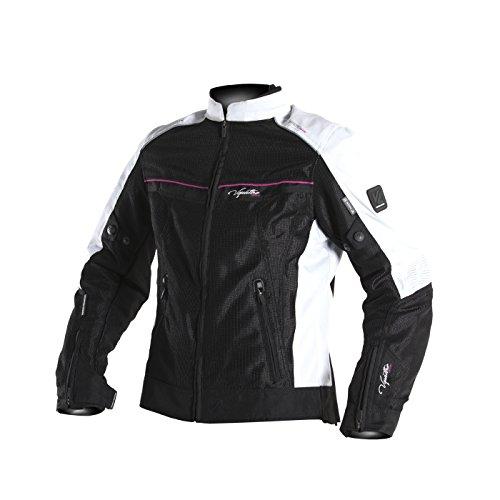 V-Quattro-Design-vquattro-Design-Giacca-Moto-Donna-ve21l-Black-White-Pink-dimensioni-NeroBiancoRosa-Taglia-S
