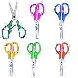 Ciseaux pour enfants, ciseaux, schulschere couleurs ciseaux pour enfants avec ressort de rappel à ouverture automatique