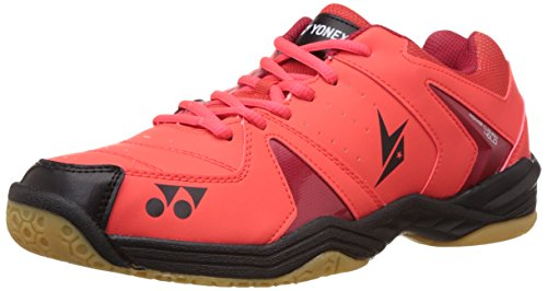 Yonex SHB40LD Badminton Power Cushion Shoes, UK 9 (Bright Red)