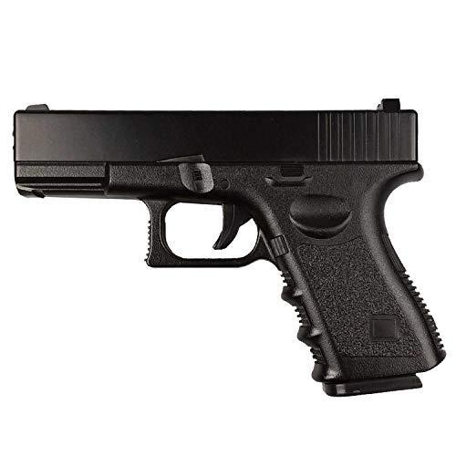 Rayline G15+ Voll Metall Softair (Manuell Federdruck) + Gürtelholster, Maßstab 1:1, Gewicht 675g, 6mm Kaliber, Farbe: Schwarz/Black