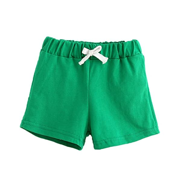 Covermason Bebé Unisex Niños Niña Moda Algodón Ocio Pantalones Cortos (4Años, Verde) 1