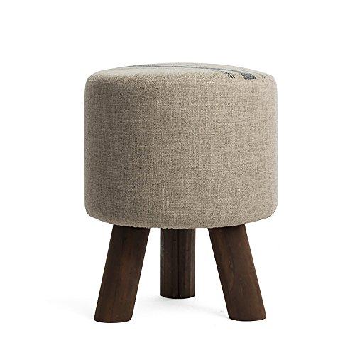 LQQGXL Europäischer Stuhl Einfache Sofabank, Massivholzschuhe, Bank, Stoff, Fußbank, Hocker, Kleiner Hocker (Farbe : B)