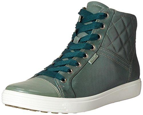 Ecco Soft 7, Sneakers Hautes Femme Vert (57042Frosty Green/Frosty Green)
